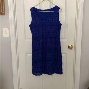 Tiana B Crochet Dress